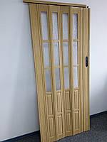 Двери гармошка полуостекленная, фото 1