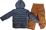 Зимний костюм для мальчика NANO F17 M 267 LT Blue Mix / Dk Burn Rust.Размеры 12 мес - 12лет., фото 2