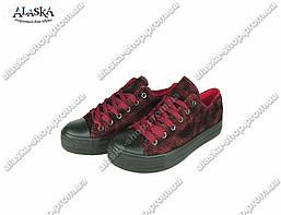 Подростковые кроссовки (Код: 659 черно-красный)