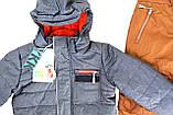 Зимний костюм для мальчика NANO F17 M 267 LT Blue Mix / Dk Burn Rust.Размеры 12 мес - 12лет., фото 3
