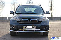 Защитный обвес переднего бампера  Honda CRV 2007-2011