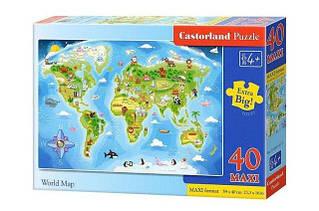 Пазли maxi Карта Світу Castorland 40 деталей