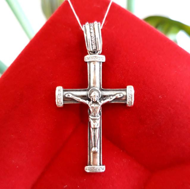 Хрестик чоловічий срібло фото