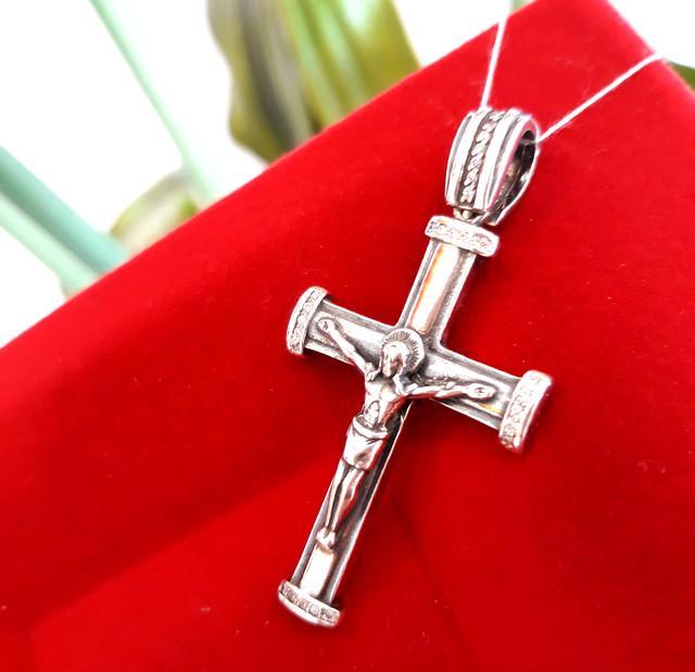 Хрестик чоловічий срібло фото 1