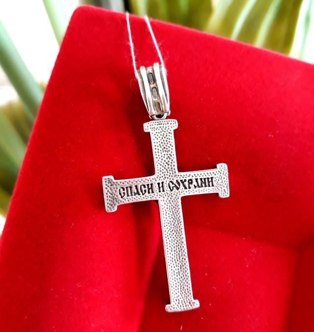 Хрестик чоловічий срібло фото 3