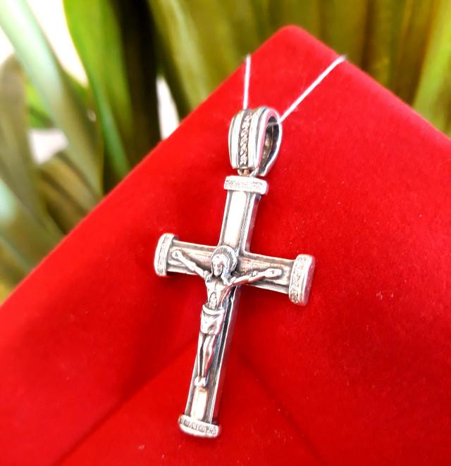 Хрестик чоловічий срібло фото 4