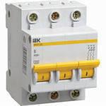 Автоматический выключатель ВА47-29 3Р 10А 4,5кА характеристика В ИЭК