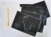 Набор 4-х скретч-открыток Англия-США-Италия-Австралия
