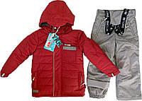 Зимний костюм для мальчика NANO F17 M 269 Spicy Red Pepper / Md Grey Mix. Размеры 24 мес - 12.