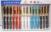 Ручка паерьевая,чернильная, перо закрытое с кристаллом №3065