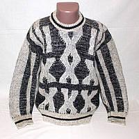 Зимний теплый шерстяной свитер на мальчика р. 128