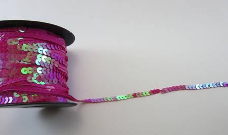Пайетки на нитке 6 мм * 1 м (Розовый)