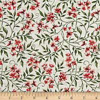 """Ткань для пэчворка и рукоделия американский хлопок """"Цветы и ветви"""" - 22*55 см"""