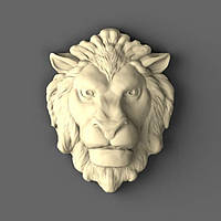 Розетка для дверей из дерева Лев