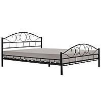 Кованая двуспальная кровать с матрасом