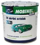 Автоэмаль акрил MOBIHEL 202 снежно-белая 0,75л без отвердителя