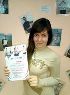 Никитина Катерина - выпускница курса инструкторов по йоге в школе Олимпия