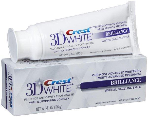 Отбеливающая зубная паста Crest 3D White Brilliance Toothpaste, Mesmerizing Mint (116 g)