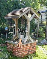 Навес Колодец декоративный деревянный