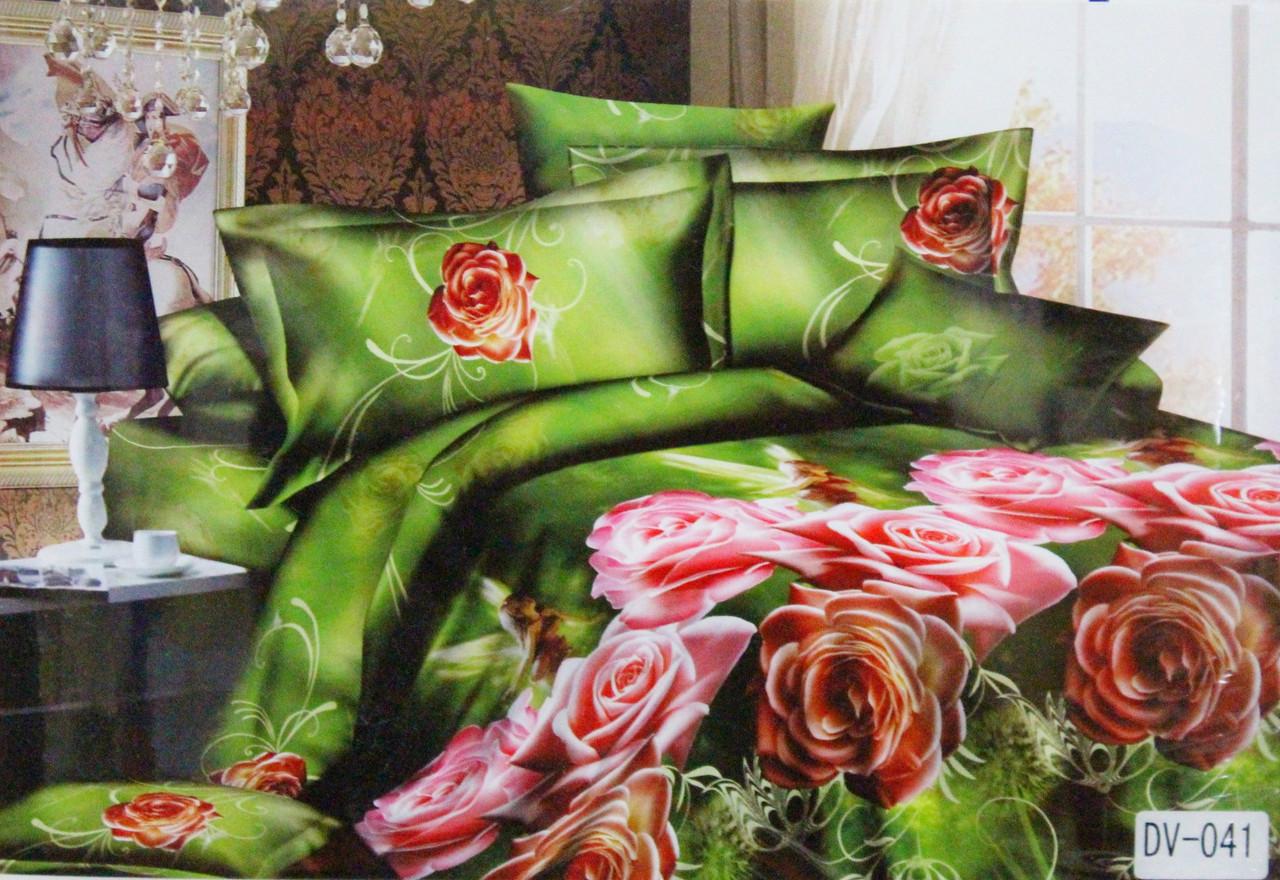 Красивое постельное бельё Florida 3D Sateen DV-041 Евро размер
