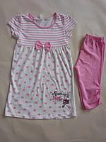 Комплект для девочек туника-лосины 6-7 лет. Турция!!Летняя одежда для девочек. Туника, футболка, кофта