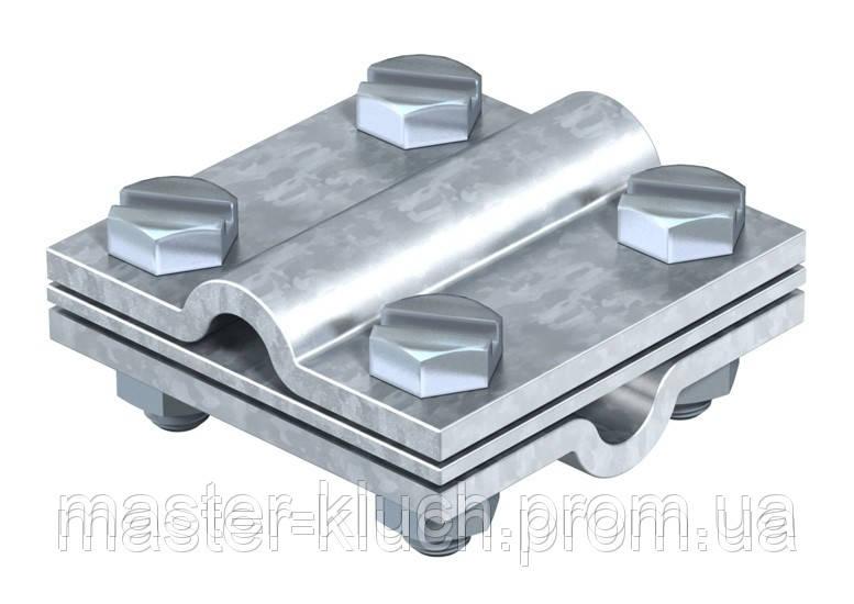 Крестовой соединитель для круглых проводников Rd 8-10, с промежуточной пластиной
