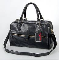 Мужская сумка Черная  черная формата А4 из искусственной кожи плечевой ремень