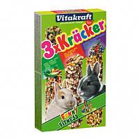 Крекер Vitakraft для кроликів з овочами, лісовими ягодами і горіхами, 3 шт