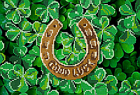 Схема для вышивки бисером POINT ART Символ удачи, размер 25х17 см
