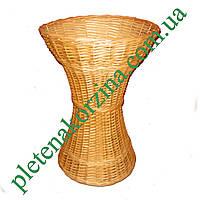 Плетеная Багетница-Ваза в форме песочных часов