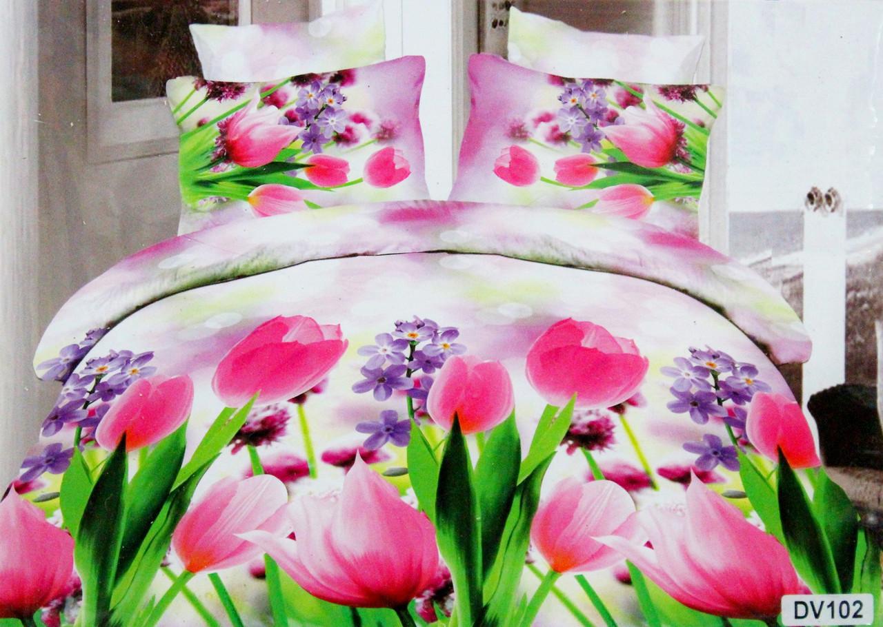 Красивый комплект постельного белья Florida 5D Sateen DV-102 Евро размер  оптом и в розницу 13ef3bc0e55dc