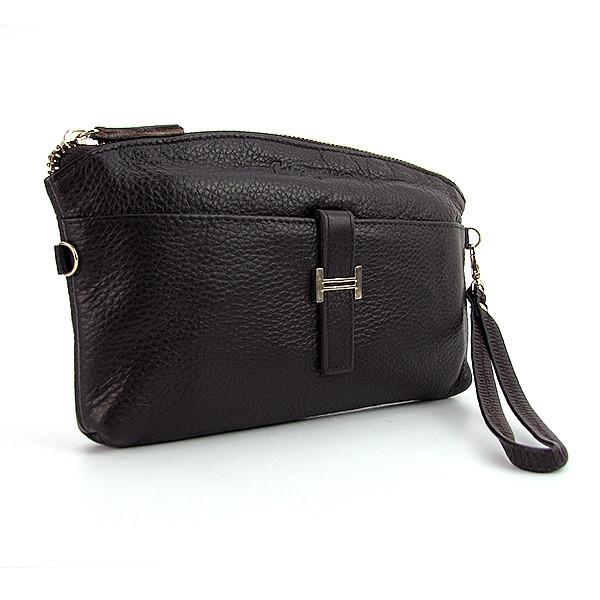 cc701e95ac82 Кофейный кожаный клатч-кошелек матовый женский оригинальный на молнии, фото  1