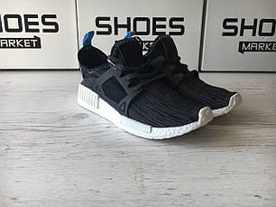 Мужские кроссовки Adidas NMD XR1 Primeknit Glitch Black, фото 2