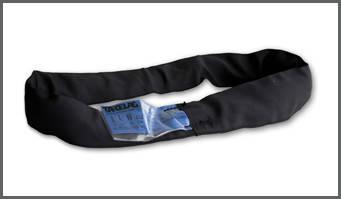 Строп текстильный кольцевой круглопрядный в чёрном чехле СТКК (BLACKLINE)