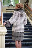 Шуба кожушок з песця і чорнобурки blue fox and silver fox fur coat, фото 2
