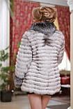 Шуба кожушок з песця і чорнобурки blue fox and silver fox fur coat, фото 5