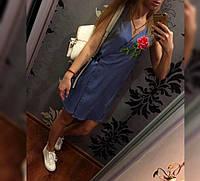 Платье джинсовое Роза 42-46р