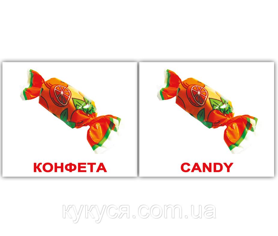Комплект карточек «Еда/Food» МИНИ