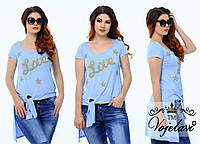 Стильная футболка туника LOVE 48-54р. (разные цвета), фото 1
