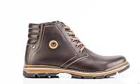 Мужские кожаные зимние ботинки  045 к