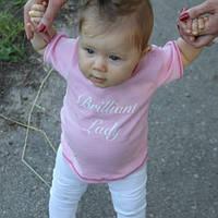 Футболка детская Леди на кнопочках, розовая