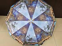 Женский зонтик полуавтомат Feeling Rain (524-1) города на 10 спиц