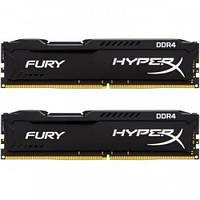 Модуль KINGSTON DDR4 16GB (2x8GB) 2400 MHz HyperX FURY Black (HX424C15FB2K2/16)