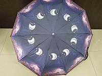 Женский зонтик полуавтомат Feeling Rain (524-3) города на 10 спиц