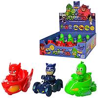 Детские игровые фигурки набор Герои в масках -Герои PJ MasksZY-719A - транспорт 9см, 12шт в коробке 28*26.5*6