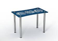 Стол стеклянный однополочный Sentenzo Океан