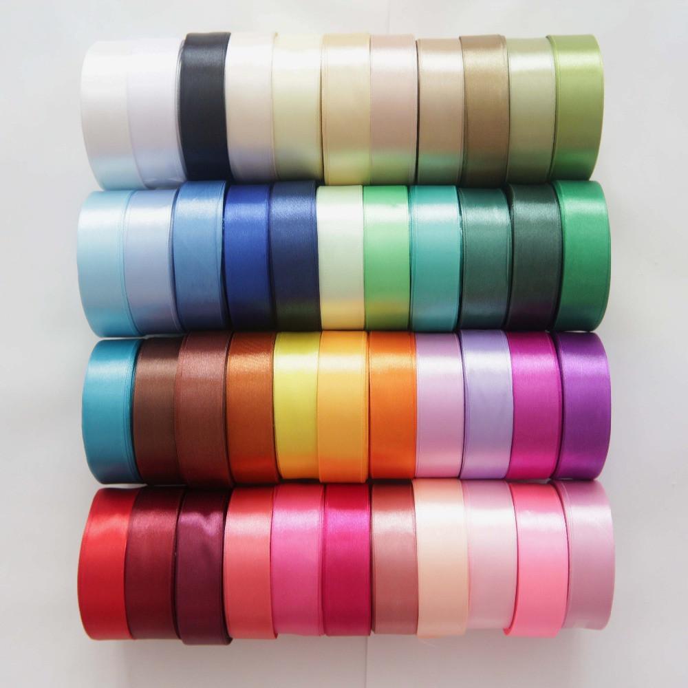 Лента атласная 25 мм * 1 м, разные цвета
