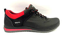 Туфли мужские ECCO Biom спортивные кожаные черные E0035