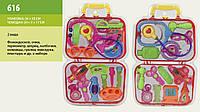 Доктор, набор в чемоданчике, 4 вида, арт. 616