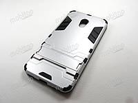Противоударный чехол Meizu M5c (серебристый)